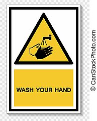 Wash Your Hand Symbol Sign, Vector Illustration, Isolated On...