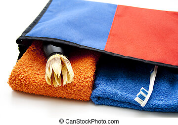 Washbag with Towel and Brush
