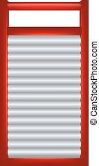 Washboard in red and silver design