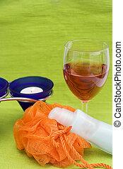 washcloth, cosmetics, can