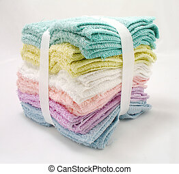 washcloth - wash clothes of different colors