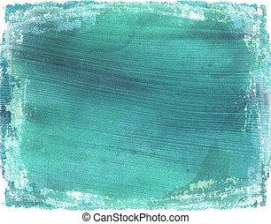 Washed light blue grunge coconut paper background - Washed...
