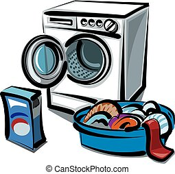 washer and clean linens