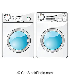 Washer and dryer - Illustration of a washing machine beside...