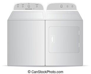 Washer dryer - Washer, dryer