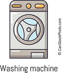 Washer icon, cartoon style