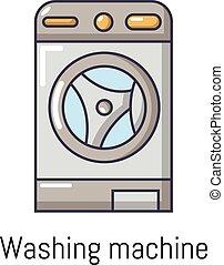 Washer icon, cartoon style