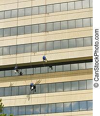washers, ropes, окно, три, подвешивание
