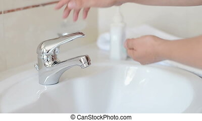 Washing and Drying Hands at Sink Fa