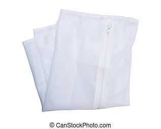 Washing bag isolated on the white