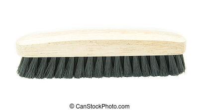 washing brush on white background