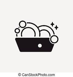 washing dishes icon