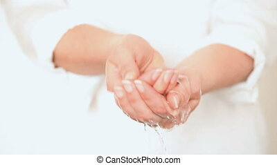 Washing Hands in Water Closeup
