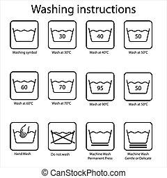 Washing instruction