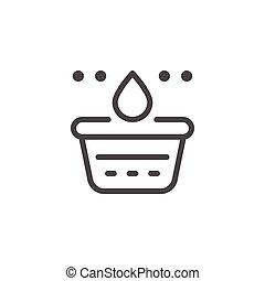 Washing line icon