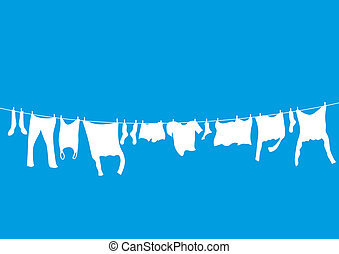 washing lines background