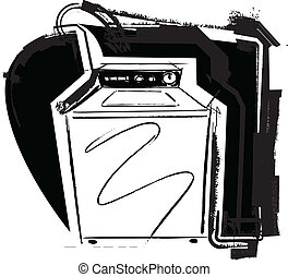Washing machine. Vector illustration