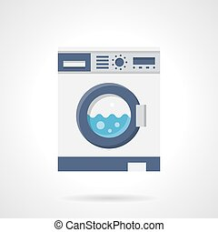 Washing machine flat color vector icon