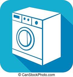 washing machine flat icon