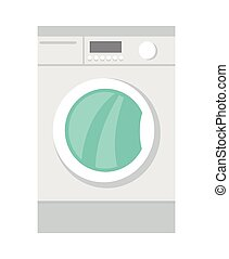 Washing Machine Household Appliances in Flat Style
