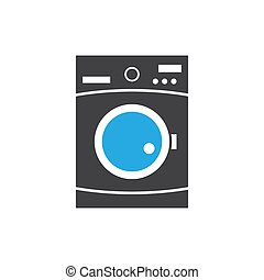 Washing machine icon design template vector isolated illustration