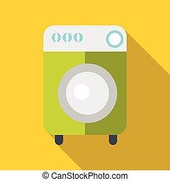 Washing machine icon , flat style