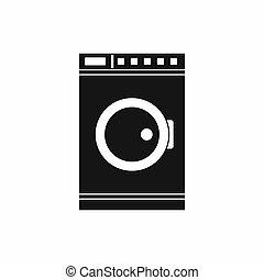 Washing machine icon, simple style