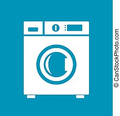 Washing machine icon - Washing machine vector icon