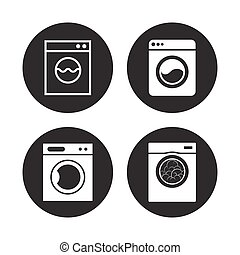 washing machine icons ser
