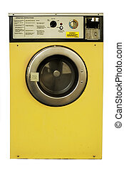 Washing Machine - Old vintage coin-operated laundrette...