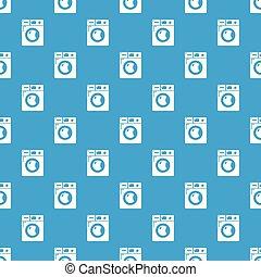 Washing machine pattern vector seamless blue