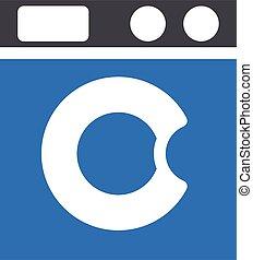 washing machine vector glyph colour icon