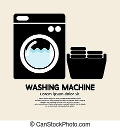 Washing Machine. - Washing Machine Vector Illustration.