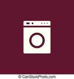 Washing mashine icon simple illustration - Washing mashine...