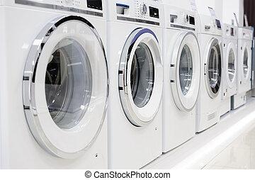 washing mashines in appliance store - Washing machines, ...
