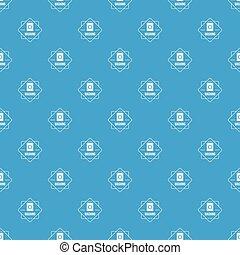 Washing pattern vector seamless blue