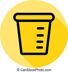 washing powder outline icon in long shadow style
