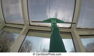 washing window squeegee