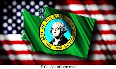 Washington 03 - Flag of Washington in the shape of...