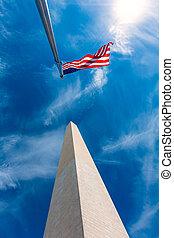 washington, columbia, dc, distretto, monumento
