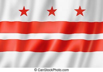washington, columbia, distretto, bandiera, stati uniti