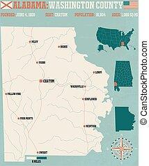 Washington County in Alabama USA