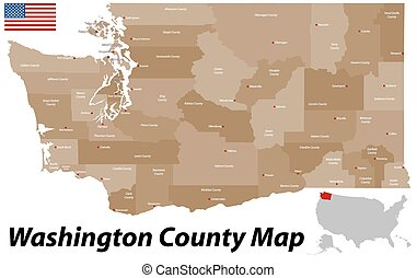 Washington County Map - A large and detailed map of the...