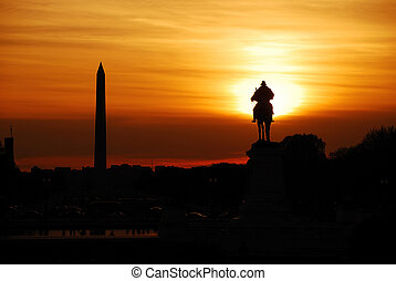 washington d.c., 日没