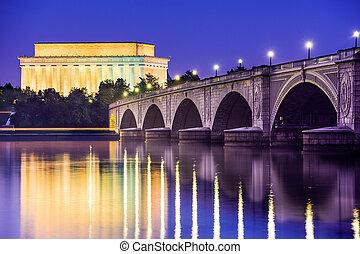 Washington, D.C. at the Lincoln Memorial.