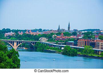 Washington DC by the river