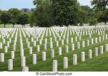 Arlington National Cemetery - Washington DC, capital city of...