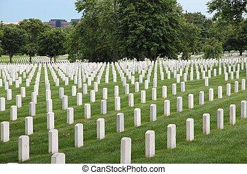 Arlington National Cemetery - Washington DC, capital city of...