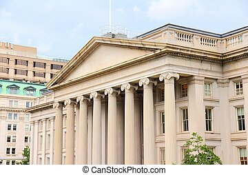 Treasury Department - Washington DC, capital city of the...