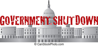 Washington DC Capitol Government Shutdown Text